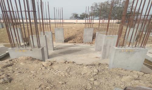 Hostel Block H2 –  column casting completed 15.03.2021
