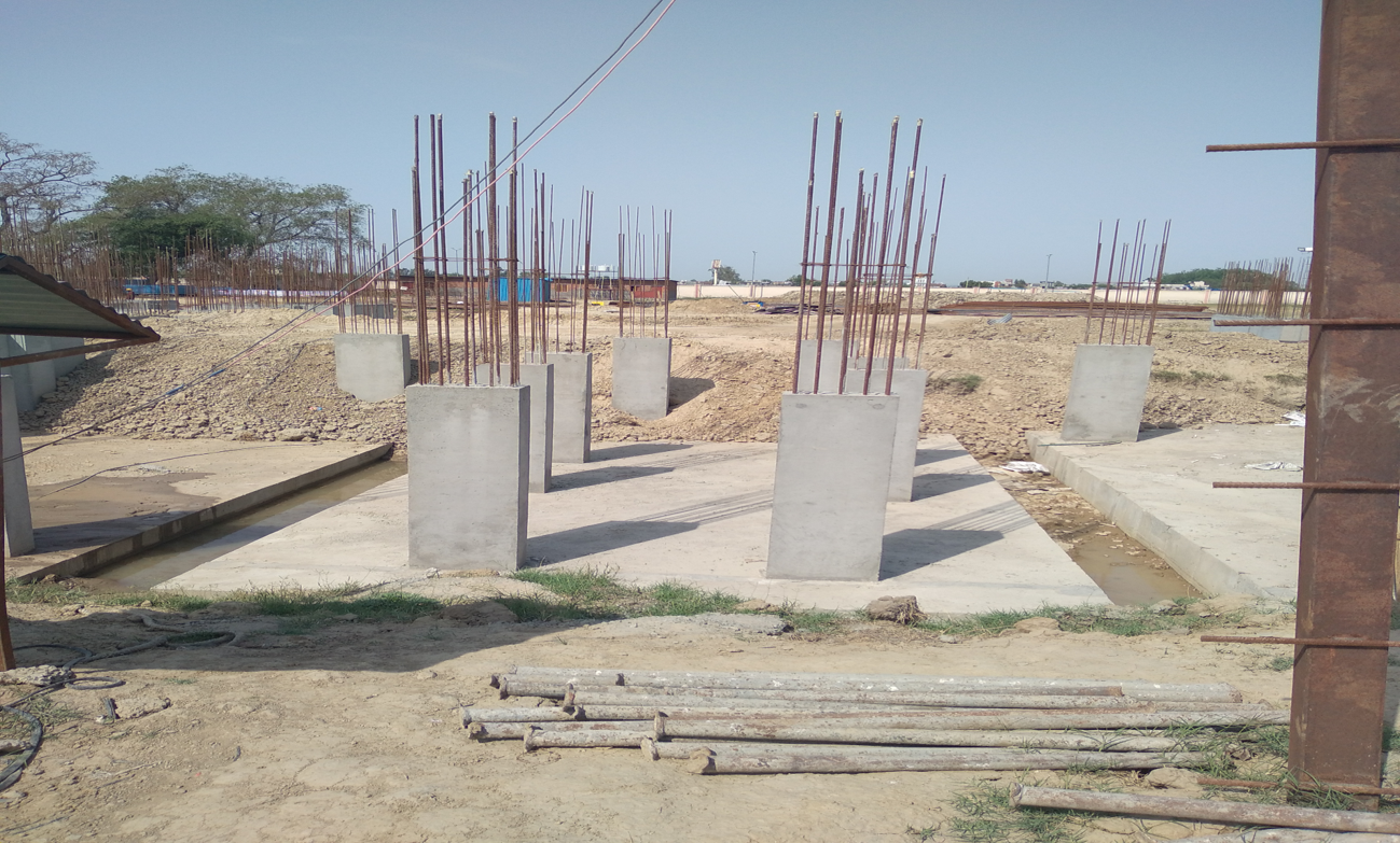 Hostel Block H6 - column casting work in completed 12.04.2021