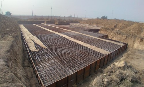 Associate Professors Residence – Raft steel placing in second layer completed 05.01.2021