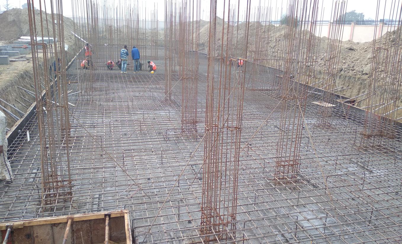 Professor's residence – steel placing & binding and column work in progress (28.12.2020)