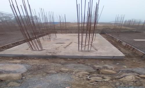 Hostel Block H6 – Raft RCC work Completed 11.01.2021