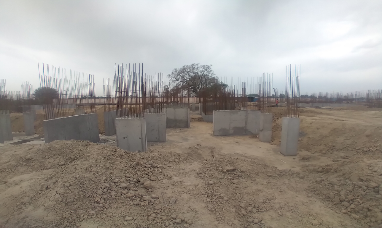 Hostel Block H3 – Column casting work in Completed 05.04.2021