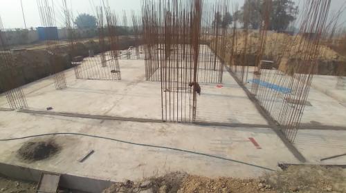 Hostel Block H1 – Raft RCC work completed 25.01.2021
