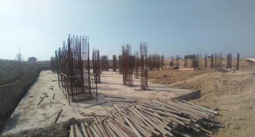 Associate Professors Residence – Raft RCC work Completed layout in progress & Steel work in progress 01.03.2021