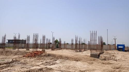 COMMUNITY CENTER – soil filling work in progress  17.05.2021