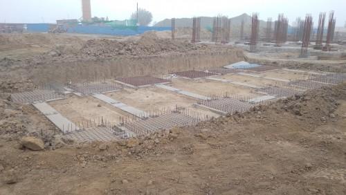 HEALTH CENTRE-Footing steel  work in progress 16.02.2021