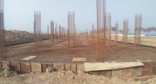 Academic block – 1st pit steel work in progress 01.02.2021