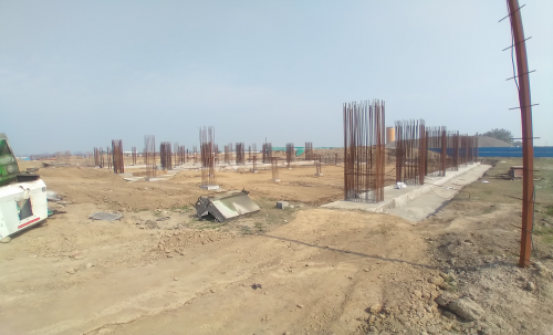 SPORTS COMPLEX – Footing RCC work in completed 23.02.2021