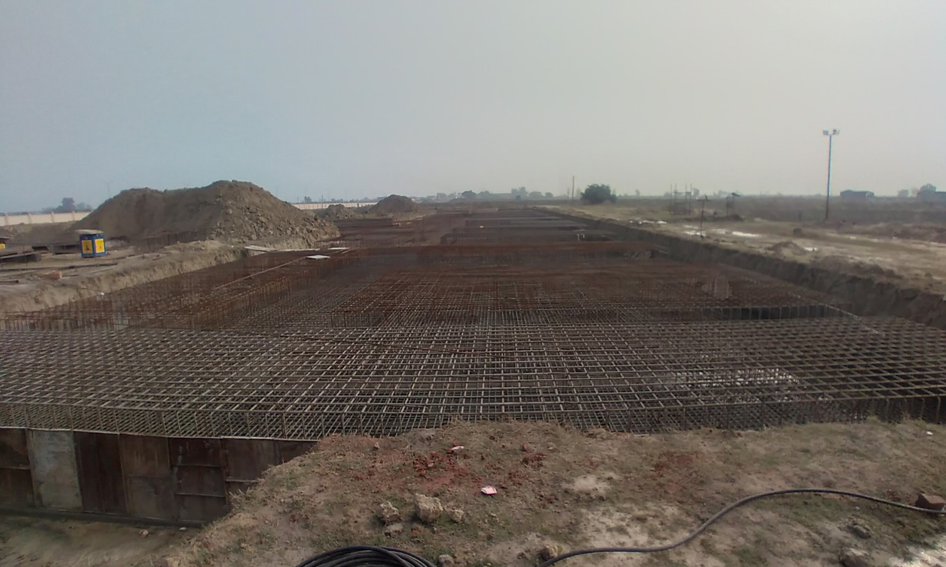 Faculty & Admin block –  Raft steel placing in progress 05.01.2021