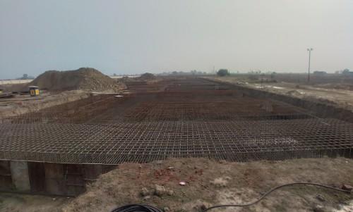 Faculty & Admin block –  Raft steel placing in progress 05.01.2021