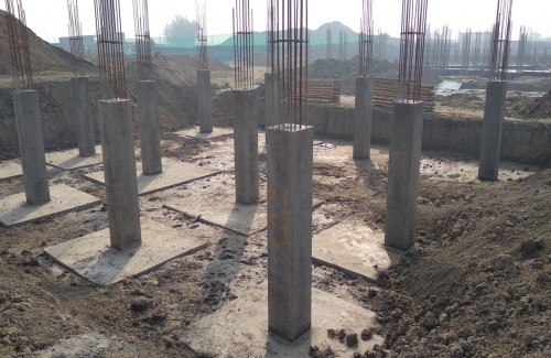 COMMAND CENTER –footing RCC work completed & Columns work in completed 01.02.2021