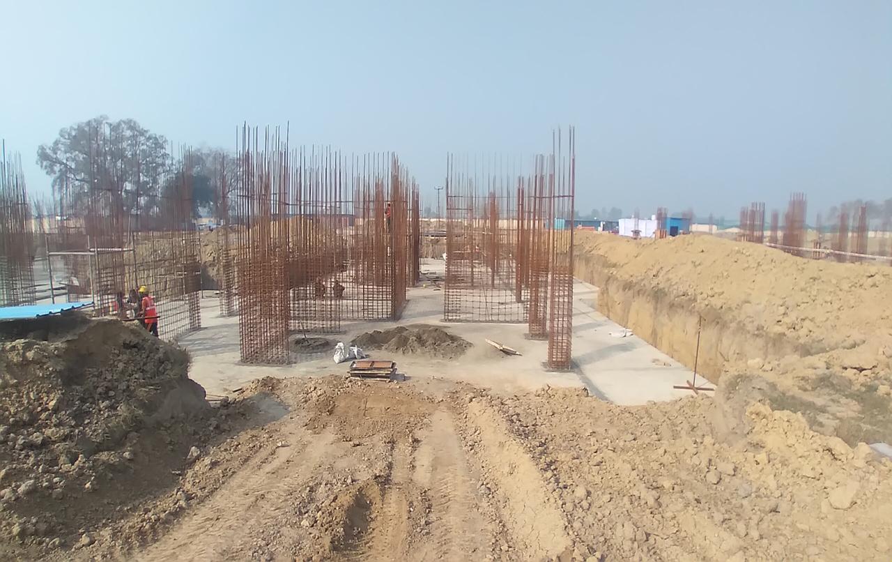 Hostel Block H7- Raft RCC work Completed layout in progress 08.02.2021