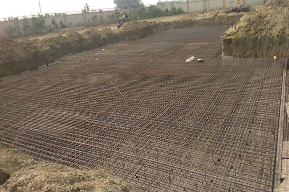 Hostel Block H1 – Steel placing & binding second layer work in progress (9-11-2020)