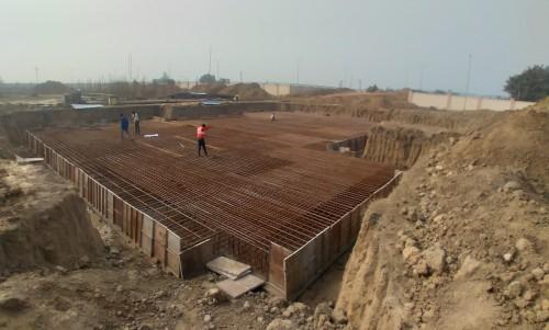 Non Teaching Staff Residence – steel placing & binding work in progress 05.01.2021