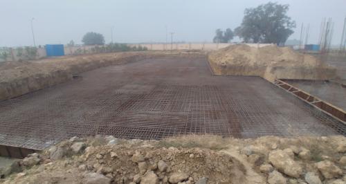 Hostel Block H1 – Steel placing & binding second layer work in progress (28.12.2020)