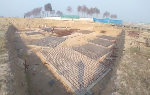 INCUBATION – Footing steel work in progress layout in progress 01.02.2021