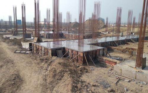 SPORTS COMPLEX – Footing steel work in progress, RCC work in progress 01.02.2021