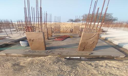 Hostel Block H2 –  column casting completed 02.02.2021