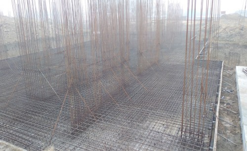 Hostel Block H3 – steel placing & binding second layer in progress 18.01.2021