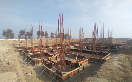 Director's residence – footing steel work in progress -(08-12-2020)