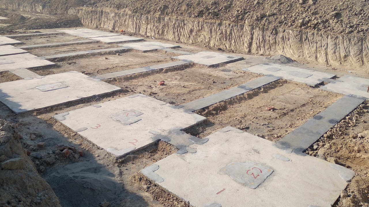 HEALTH CENTRE-Footing PCC work completed & layout in progress (21.12.2020)