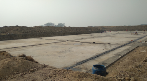 Academic block – 2nd pit layout for raft in progress.(9-11-2020)