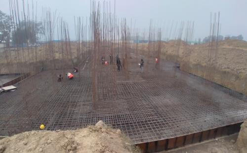 Hostel Block H7 – Steel placing & binding work – Column work in complete (28.12.2020)