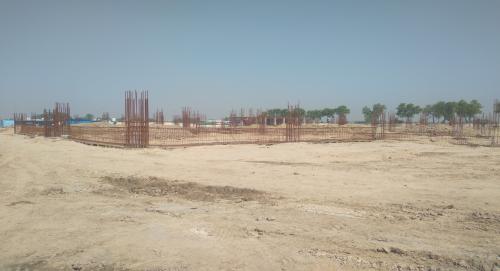 Dinning block – column casting work in completed soil filling work in progress grid slab works in progress 26.04.2021