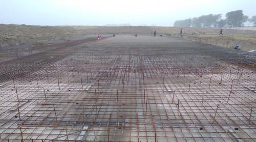 Academic block – 1st pit steel work in progress - (14-12-2020)