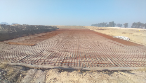 Academic block – 1st pit steel work in progress (01-12-2020)