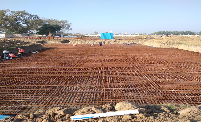 Hostel Block H5 – steel placing & binding work second layer in progress (17-11-2020)