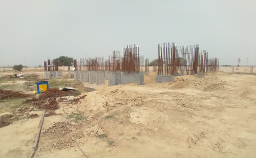 Non Teaching Staff Residence – shear wall casting work in completed    04.05.2021