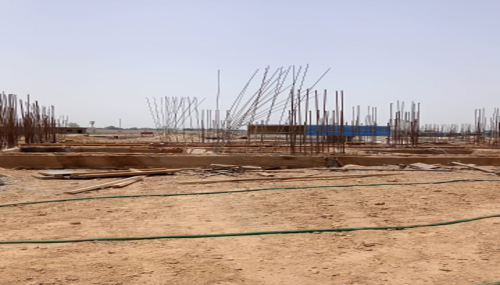 Hostel Block H6 - Soil filling work in completed grade slab beam shuttering work in progress 31.05.2021