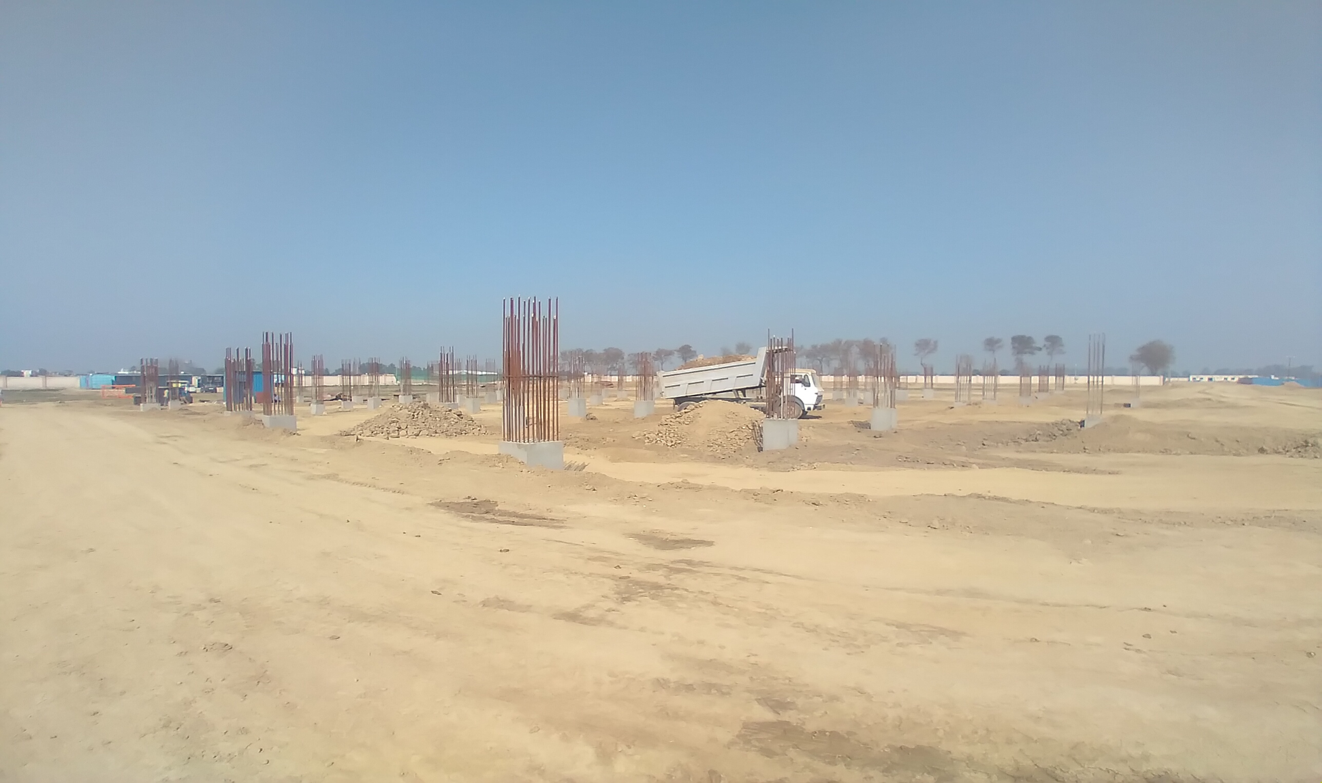 Dinning block – column casting work in completed soil filling work in progress 01.03.2021