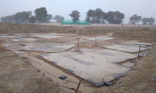 INCUBATION –Footing PCC work completed & layout in progress - (14-12-2020)