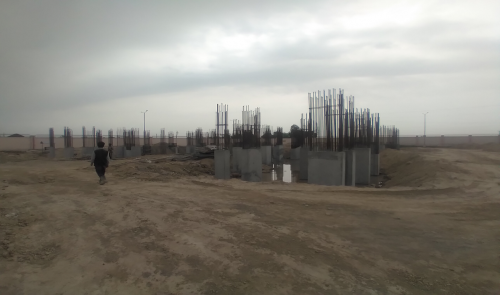 Associate Professors Residence – column casting work in completed 05.04.2021