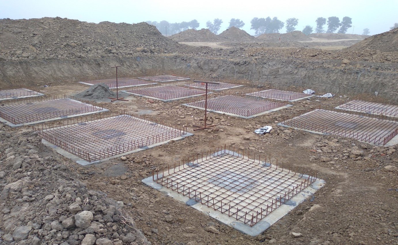 COMMAND CENTER –footing steel work in progress - (14-12-2020)