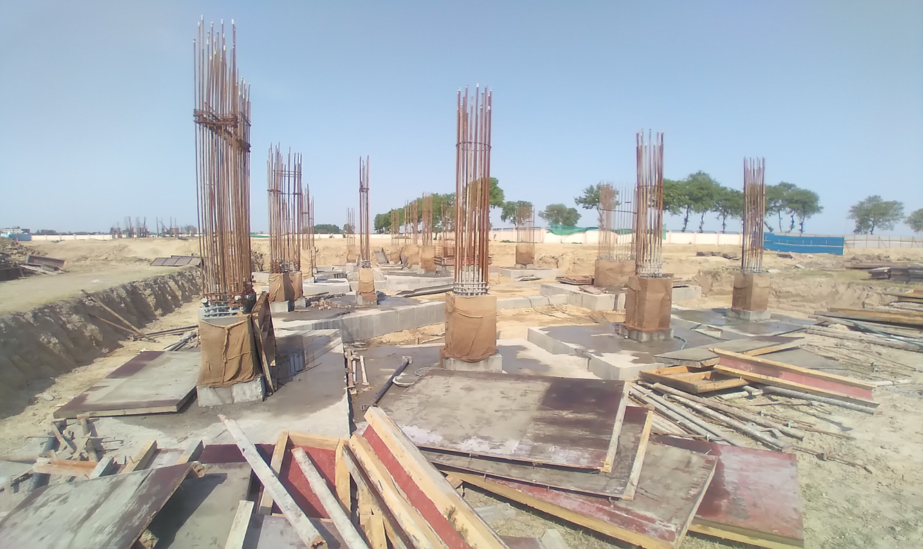 INCUBATION – RCC Footing work in completed column casting work in progress 12.04.2021