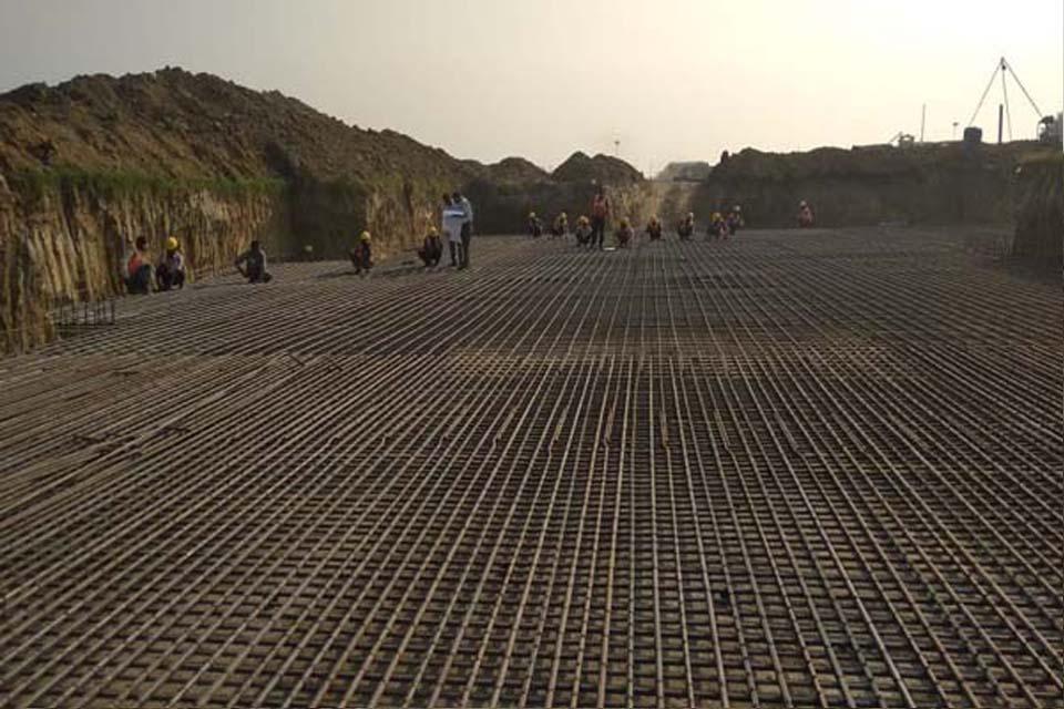 Hostel Block H7 – Steel placing & binding work in progress (31-10-2020)