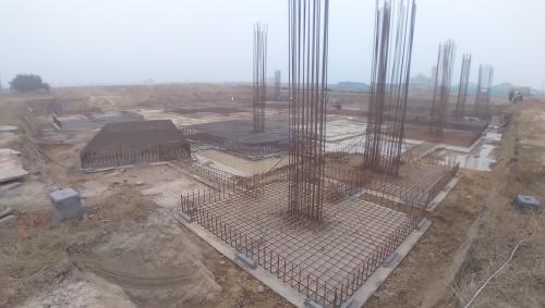 LIBRARY- footing steel work in progress 11.01.2021