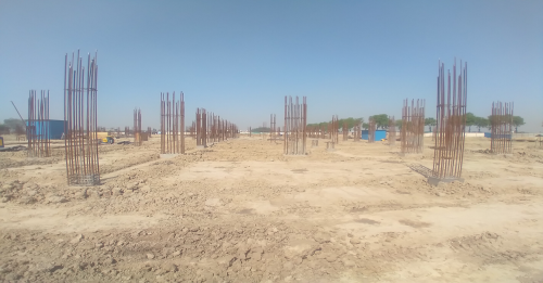 Academic block – 1st pit Column casting work in completed & soil filling work in progress 26.04.2021