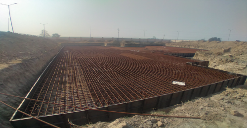 Associate Professors Residence – Raft steel placing in second layer completed -(08-12-2020)Residence