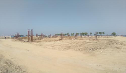 Dinning block – column casting work in completed soil filling work in progress 30.03.2021