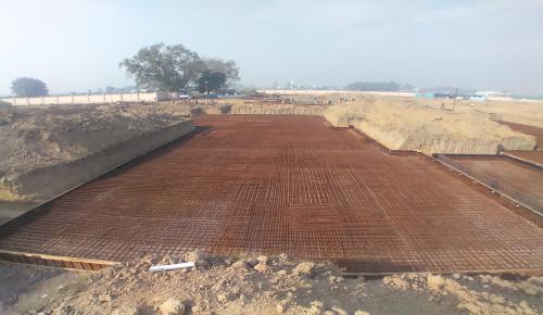 Hostel Block H5 – steel placing & binding work second layer in progress -(08-12-2020)
