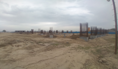 SPORTS COMPLEX – Shear wall & column casting work in completed 05.04.2021