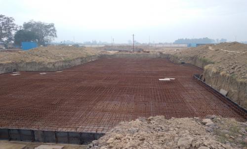 Hostel Block H7 – Steel placing & binding work – second layer work in complete (23-11-2020)