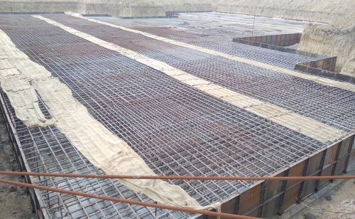Associate Professors Residence – Raft steel placing in second layer completed (28.12.2020)