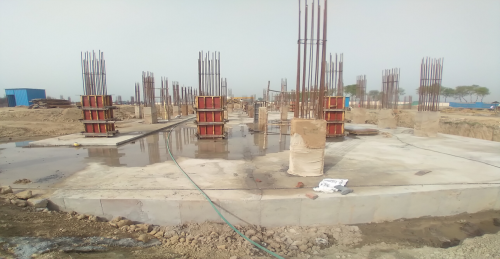 Academic block – 1st pit Column casting work in progress
