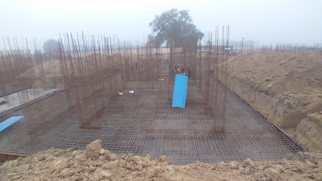Hostel Block H3 – steel placing & binding second layer in progress 11.01.2021