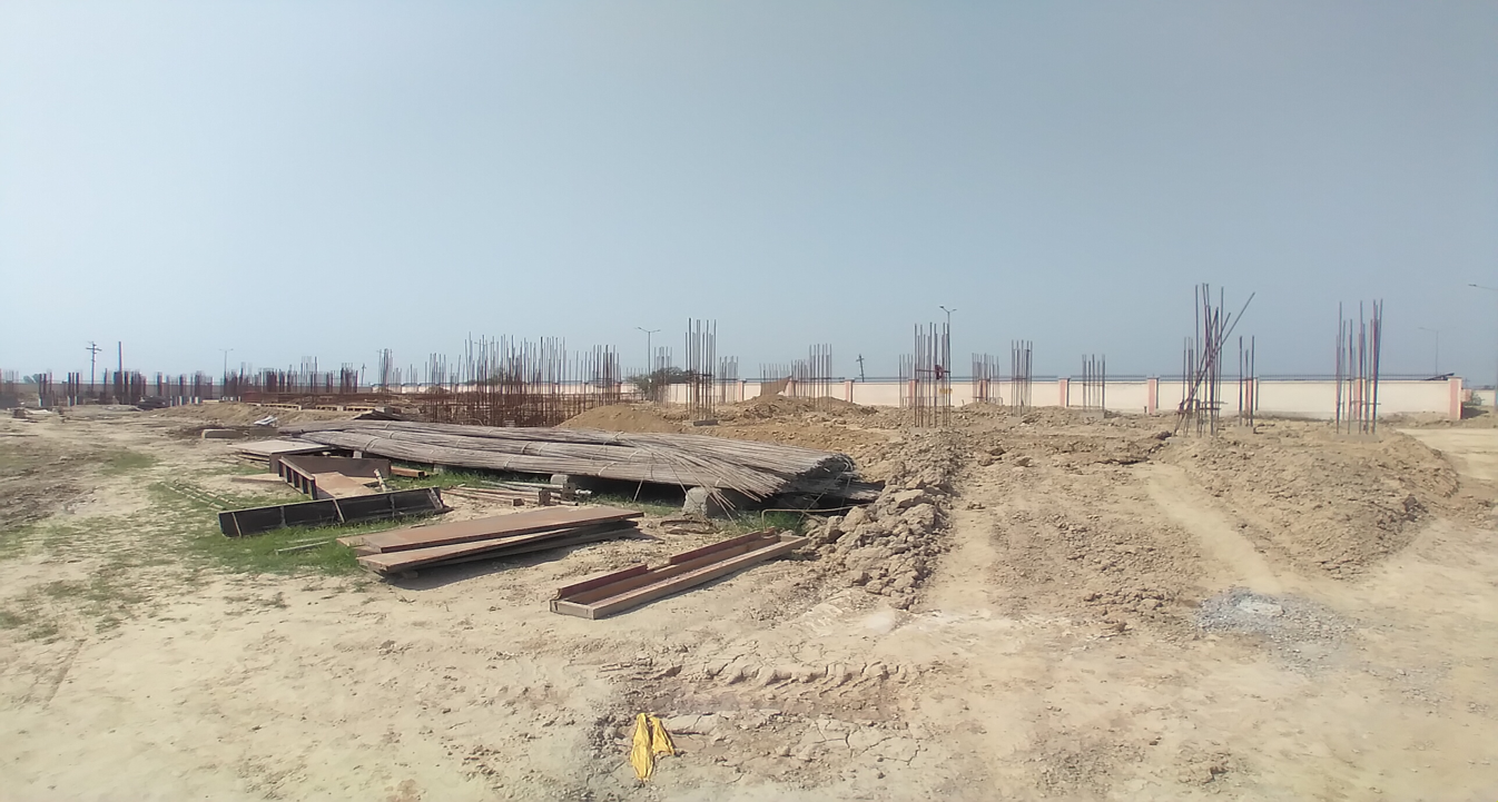 Professor's residence – Raft RCC work Completed column casting work in completed soil filling work in completed 30.03.2021